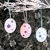 Tree or Package Ornaments, made from laser-cut wood, hand painted sparkled and
