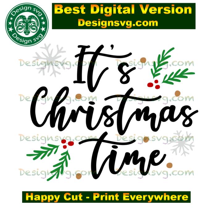 It's christmas time, christmas shirt svg, christmas gifts, merry christmas,