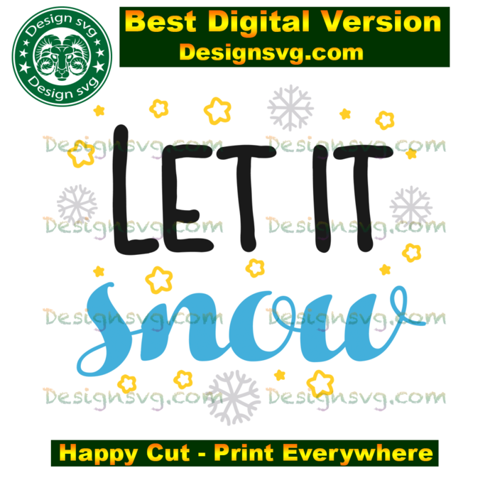 Let it snow, merry christmas, christmas day, christmas svg, christmas gift