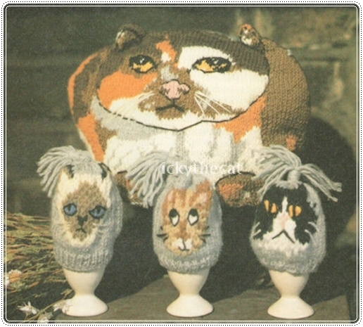 Instant PDF Digital Download Vintage Knitting Pattern Cat Tea Cosy Cosy One