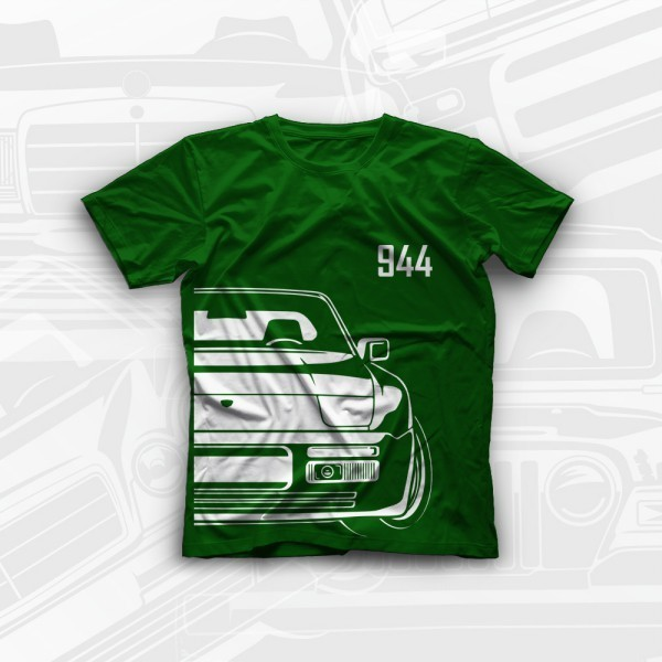 Porsche 944 t-shirt 100% cotton with free worldwide shipping
