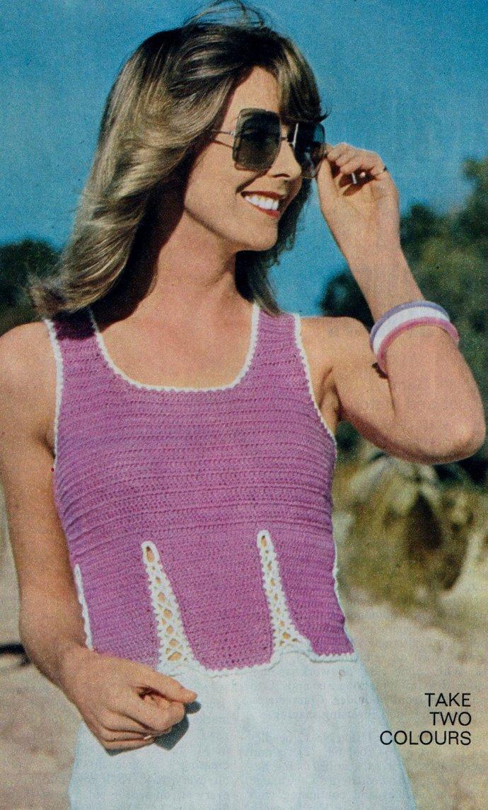 Instant Digital Download PDF Vintage Crochet Pattern Ladies Womens Seventies
