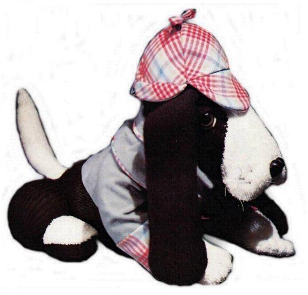 Instant PDF Download Vintage Sewing Pattern Cute Basset Hound Sock Dog Jacket