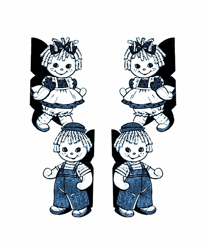 Instant PDF Digital Download Vintage Sewing Pattern Raggedy Ann & Andy Stuffed
