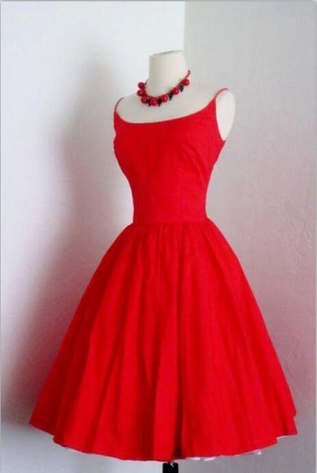 Fashion Red Homecoming Dress , A-Line Satin Homecoming Dresses
