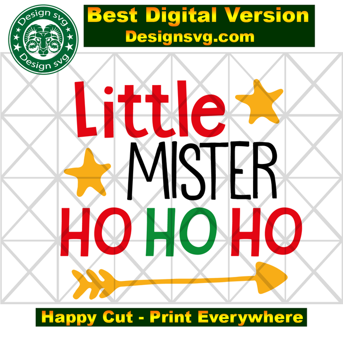 Little mister ho ho ho,,santa svg, santa claus, santa hat, christmas svg,