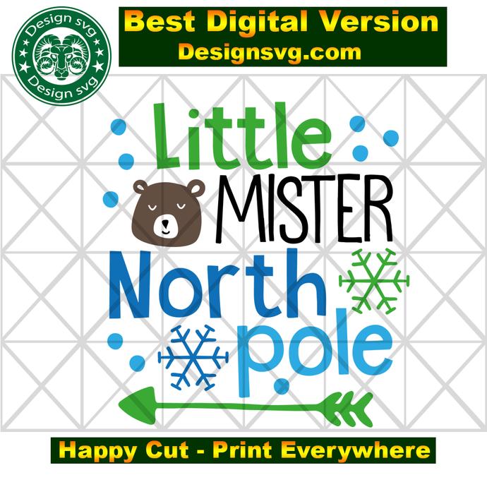 Little mister north pole, christmas tree,christmas tree gift, snowflakes, snow