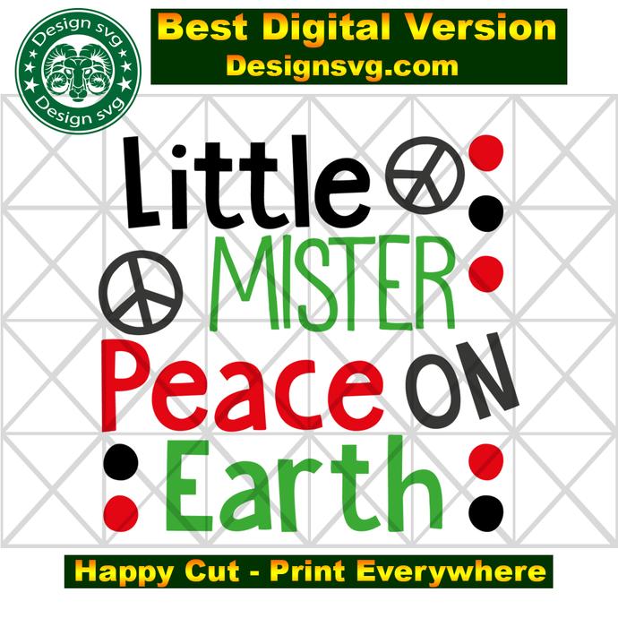 Little mister peace on earth,christmas tree,christmas tree gift,peace