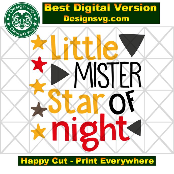 Little mister star of night, star svg, star of night, night christmas, christmas
