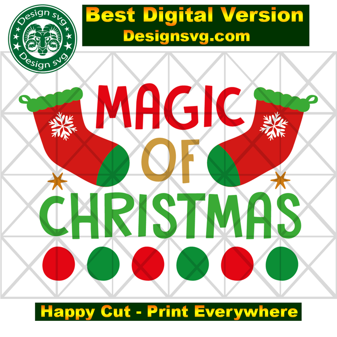Magic of christmas, stocking svg, stocking gift, stocking christmas, magic svg,