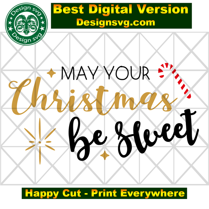 May your christmas be sweet, happy christmas, funny christmas, candy cane, candy