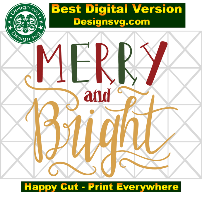 Merry and bright, merry christmas, merry svg, bright svg, christmas decor,
