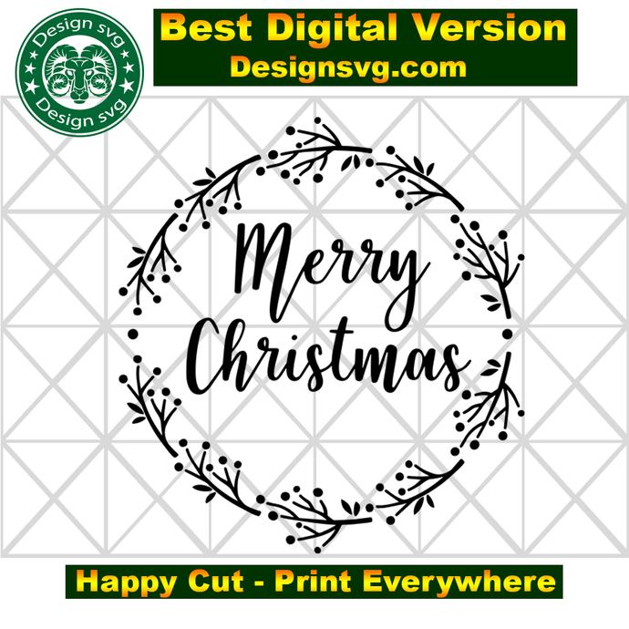 Merry christmas, wreath christmas, wreath svg, christmas svg,  christmas gift,