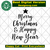 Merry christmas and happy new year, merry christmas, christmas svg, happy new