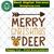 Merry christmas deer, reindeer svg, deer head, reindeer gift, reindeer