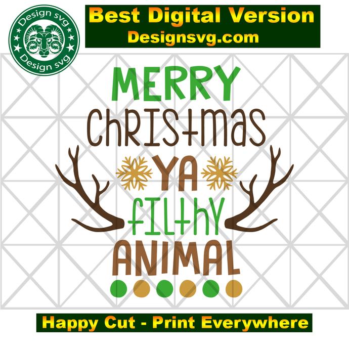 Merry christmas ya filthy animal, ya filthy animal, funny christmas, animal
