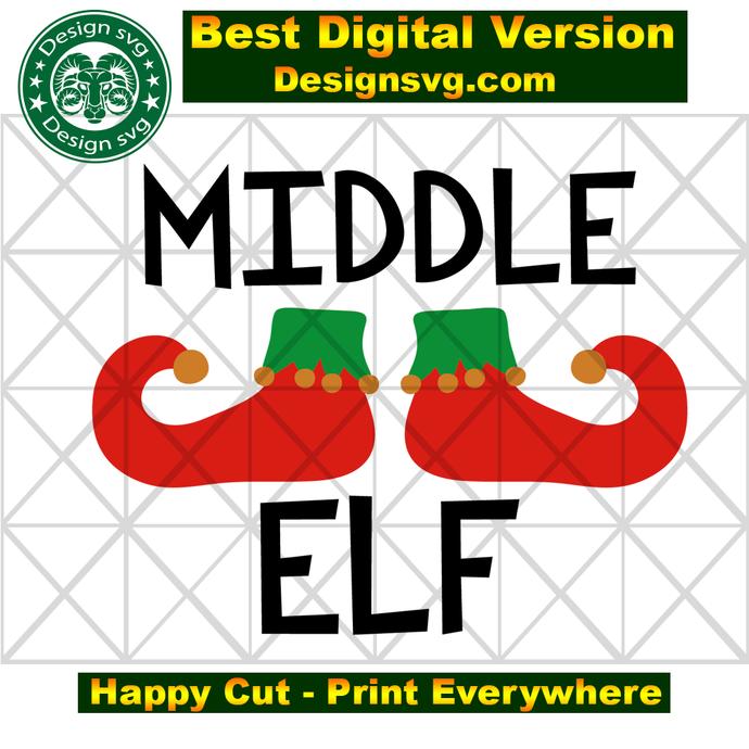 Middle elf, elf svg, elf gift, elf christmas,  christmas svg,christmas gift,Xmas