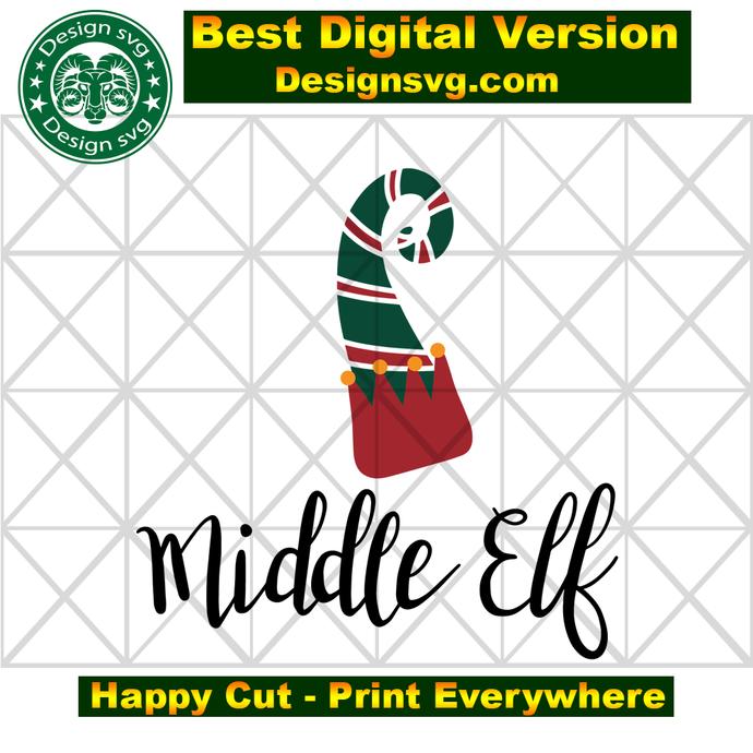 Middle elf, elf hat, elf christmas, elf gift, xmas gifts, xmas svg,  funny
