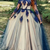Long Sleeve Tulle Appliques Prom Dress, Long Graduation Dress Formal Dress