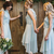 Pricess Lace Asymmetry Bridesmaid Dress, Wedding Party Gowns