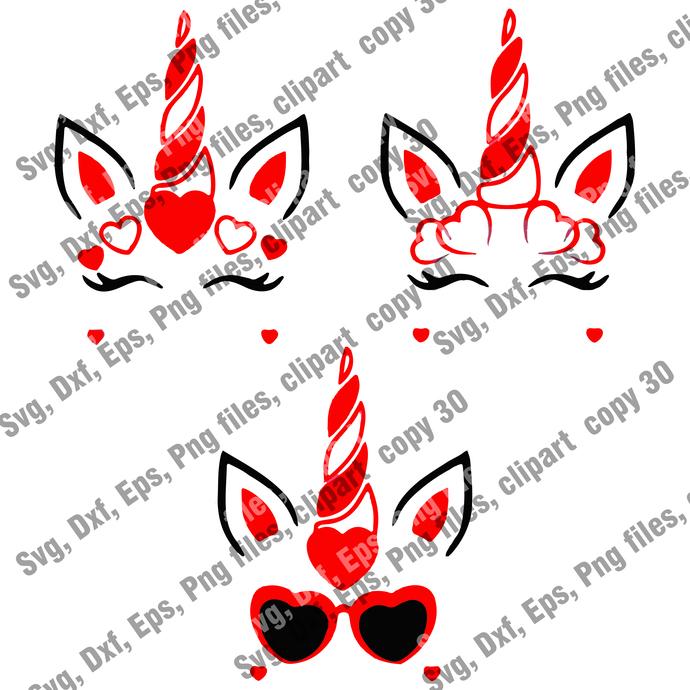 Love unicorn, unicorn svg bundle, cute unicorn svg, valentines Day svg, Love