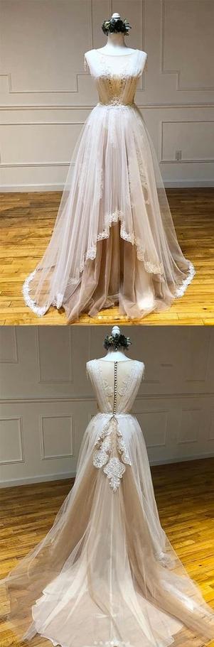 Elegant Lace Long Prom Dress, Formal Evening Dress