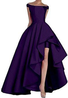 Long High Low Off Shoulder Evening Party Dress Women Formal