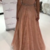 Charming Lace Evening Dress, A line Long Prom Dress, Spaghetti Straps Beaded