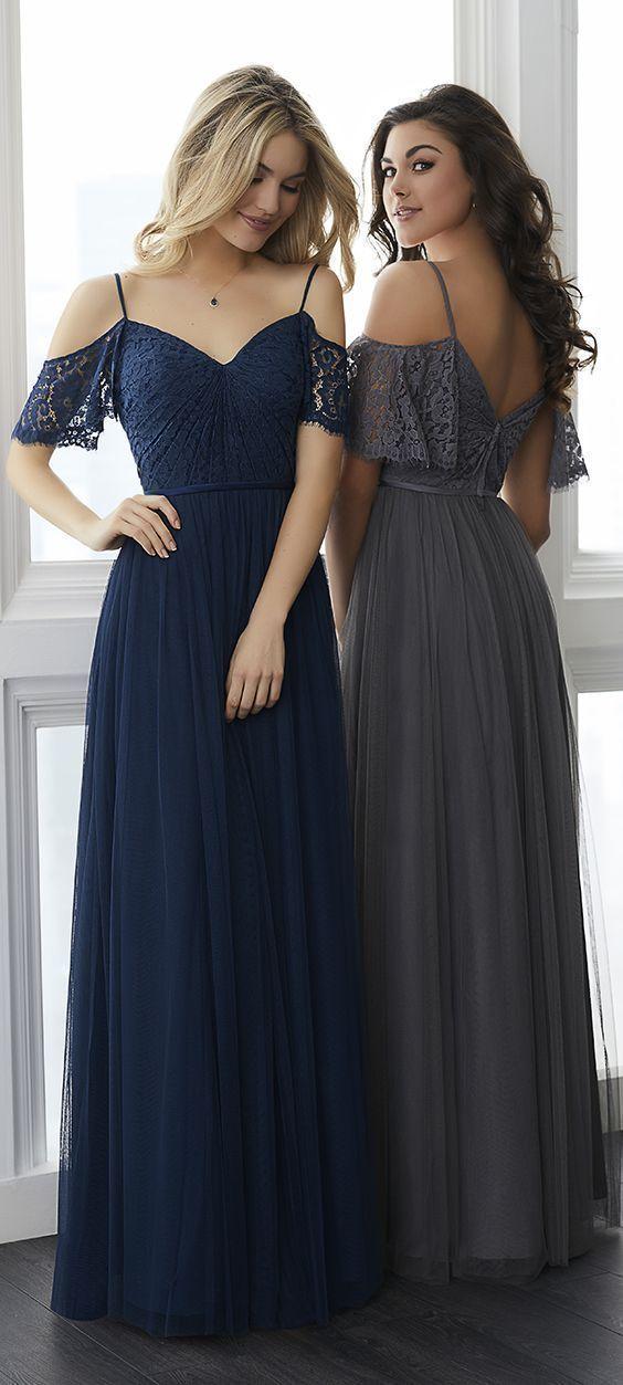 Chiffon Long Prom Dress, Navy Blue Party Dress,Elegant Navy Blue Long Prom Dress