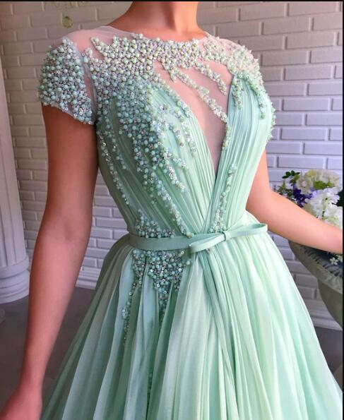 Dreamy Mint-Beads Gown
