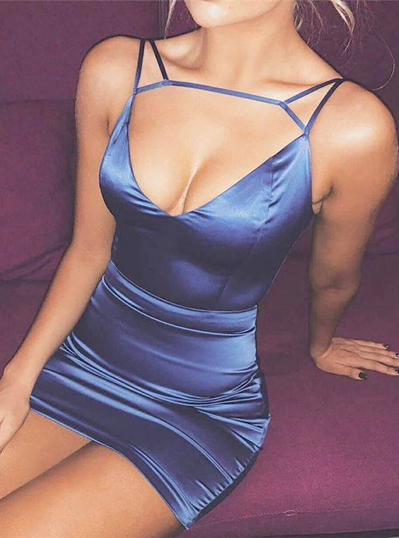 Sexy blue Short Dress, Homecoming Dress 2019, New Arrival Homecoming Dress