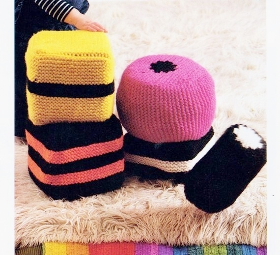 Instant Download PDF Vintage Chart Knitting Pattern for Various Chunky Novelty
