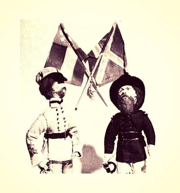 "Instant PDF Digital Download Vintage Sewing Pattern 10"" Colonel Soldier Dolls"