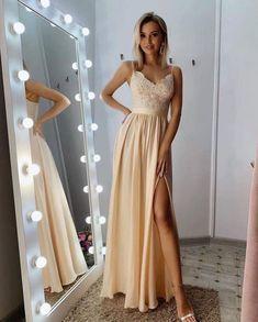 Spaghetti Straps prom dresses 2020,Prom Dress,Evening Dress,Prom Dresses