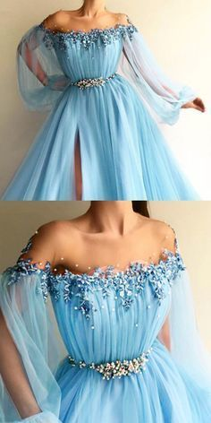 Modern Tulle Jewel Neckline Floor-length A-line Prom Dresses With Lace Appliques