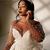 African Mermaid Wedding Dresses With Over Train Sheer Neck Long Sleeve Sweep