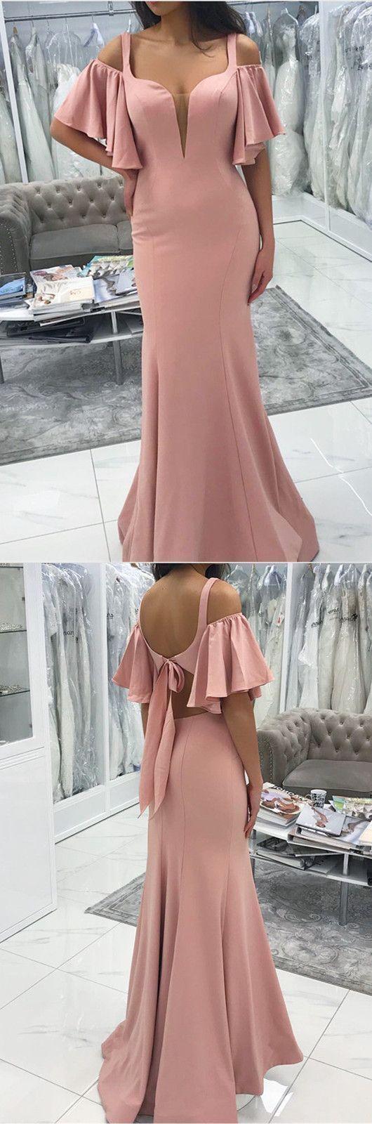 Sexy Cold Shoulders Design Long Floor Length Mermaid Prom Dresses