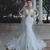 2019 New Luxury Modest Mermaid Wedding Dresses Sheer Neck Long Sleeves Full