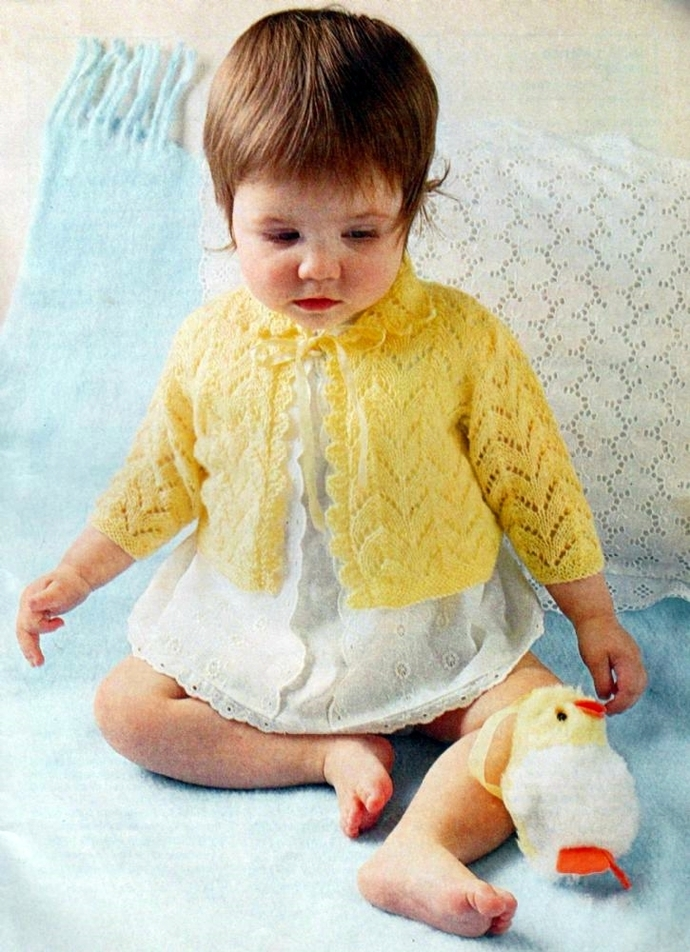 Instant PDF Digital Download Vintage Knitting Pattern Baby Babies Baby's Lacy