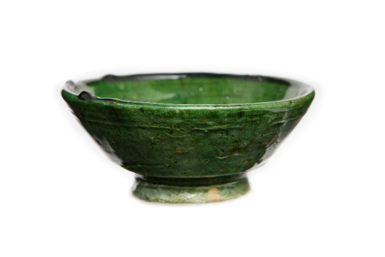 Unique Elegant Handcrafted PETIT BOL Tamegroute Green Glazed Pottery