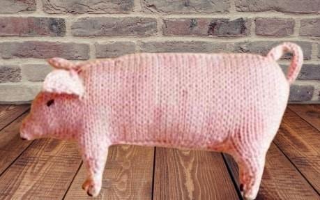 PDF Digital Download Vintage Knitting Pattern Realistic Pig Stuffed Plush Soft