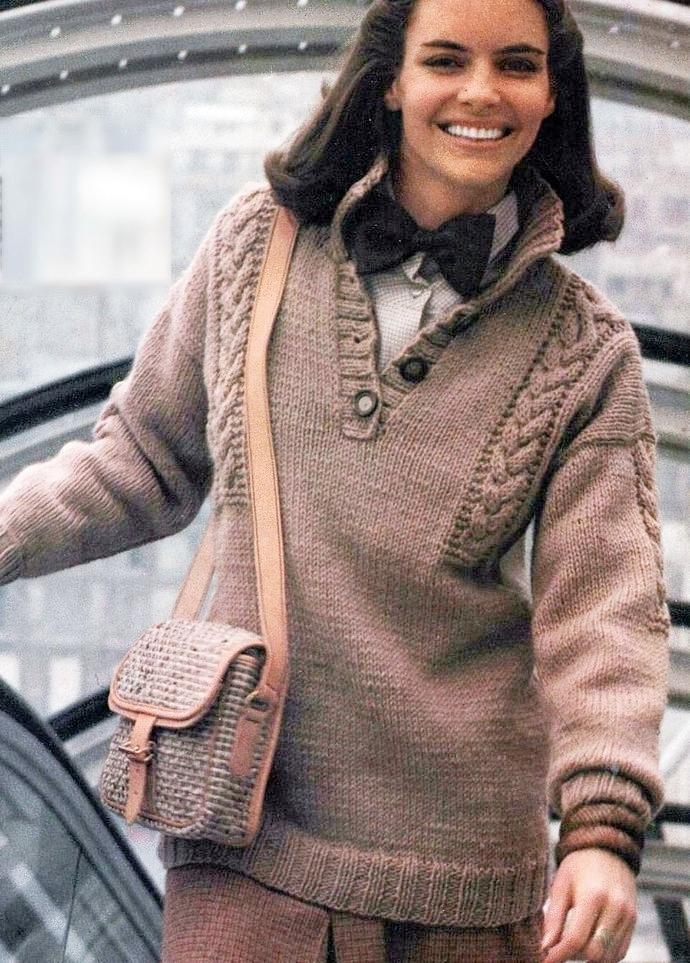Instant PDF Digital Download Vintage Knitting Pattern Woman's Ladies Classic