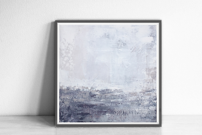 wall art abstract, Abstract Art Print ,square lilac gray white wall art , purple
