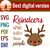 Reindeers are better than people christmas, Santan gift, jingle bell song,