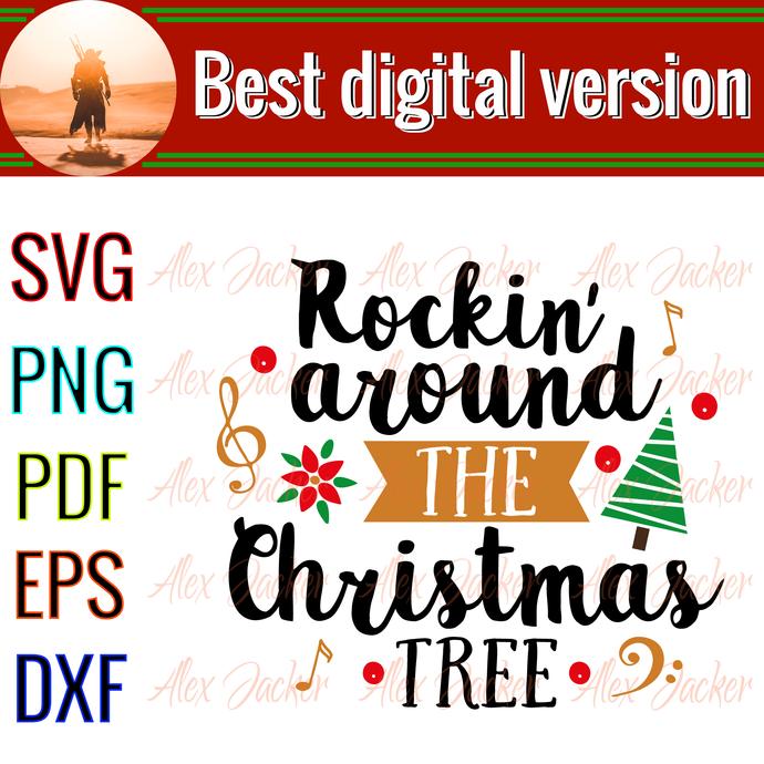 Rockin' around the christmas tree  christmas, Santan gift, jingle bell song,