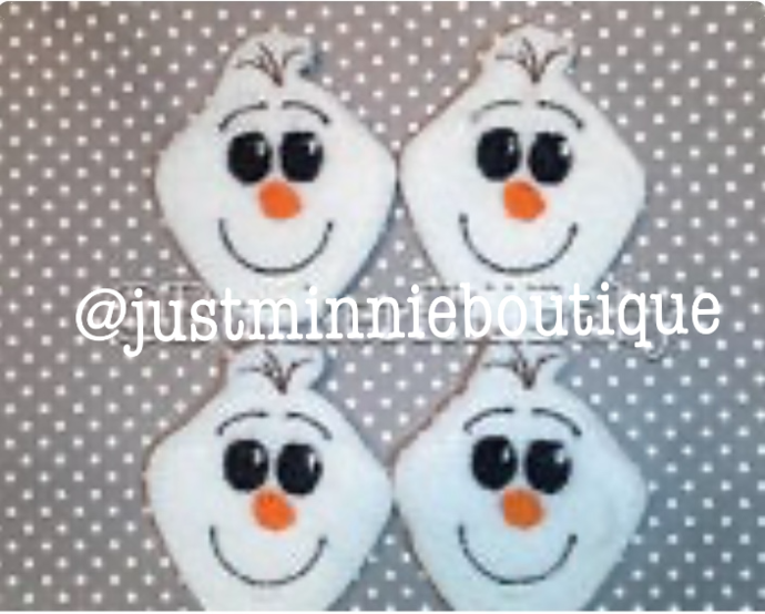 FELTIES - OLAF inspired UNCUT 4 pc
