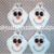 FELTIES - OLAF inspired UNCUT 4 pc