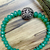 """Natural Green Onyx Gemstone Silver Beads Stretchable Handmade Jewelry 7.25"""""""