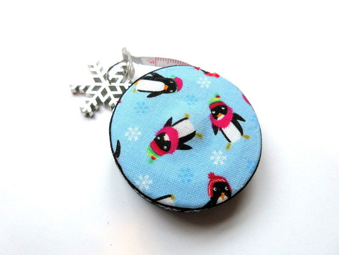 Tape Measure Snowy Penguins Small Retractable Measuring Tape