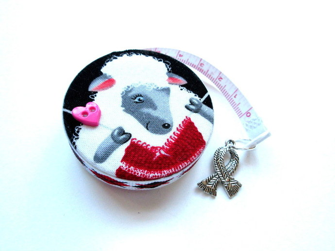 Measuring Tape Knitting Sheep Small Retractable Tape Measure